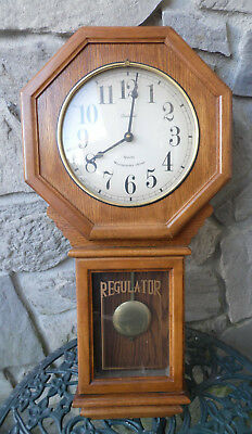 DUNHAVEN Quartz Westminster Chime Wood Clock Pendulum Battery Operated Vintage