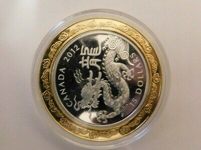 2012( Lunar)WRONG YEAR ON COIN  Year of the Dragon $15 1oz Fine Silver