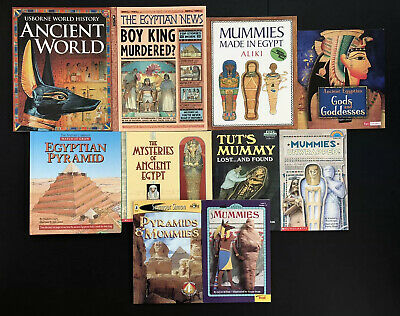 Lot 10 Ancient Egyptian Themed Children's Picture Books Egypt Pyramids Mummies