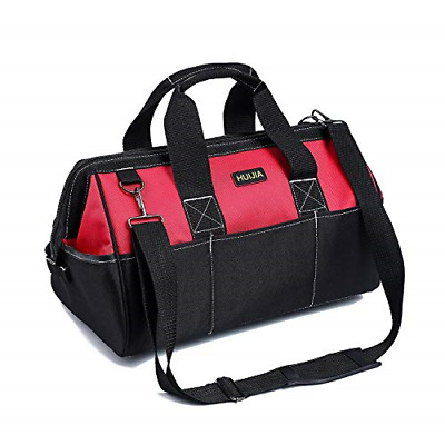 HUIJIA 15 Inch Heavy Duty Tool Bag, Large Tools Storage Bag, Organiser for with