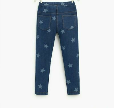 Zara Kids Girls Leggings Printed Stars Blue Size 11-12 Years Nwt $16.90