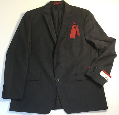 NEW ALFANI Mens Charcoal Gray Suit Coat Size 46R Slim Fit Jacket Wool Blazer