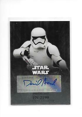 2016 Star Wars The Force Awakens Chrome David Acord as FN-2199 Auto Autograph