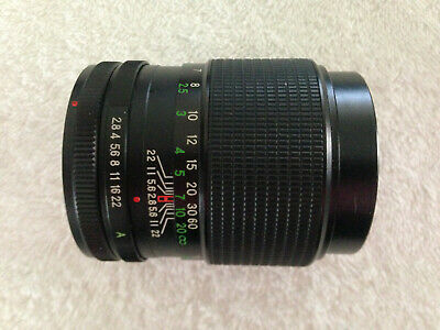 HANIMEX Automatic 1:2.8  f=135mm Camera Lens No. 652852 Made in Japan