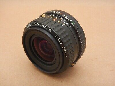 SMC Pentax-A 1:2.8 28mm Prime Lens K Mount with Rear Lens Cap
