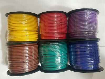 12 GA GAUGE 100 FT SPOOLS PRIMARY AUTO REMOTE POWER GROUND WIRE CABLE 6 ROLLS