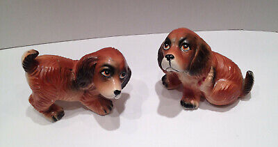 Vintage TY-Nee Set of 2 ADORABLE Dachshund Puppies ~Japan