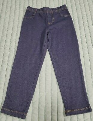 Girls Carters Denim Leggings Size 4 EUC Jeggings Comfortable Lightweight Stretch