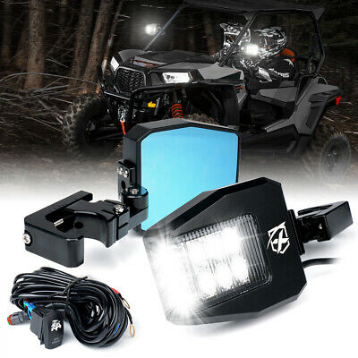 Xprite Rear View Side Mirrors w/ LED Lights for Polaris RZR XP Can-Am Buggy