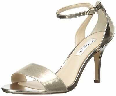 Nina Womens Venetia Open Toe Formal Ankle Strap Sandals, Taupe, Size 7.0 4ufY US