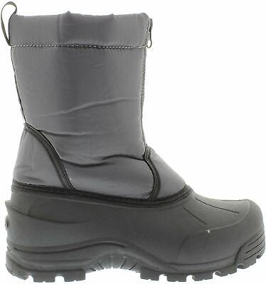 Kids Northside Girls Icicle Fabric Mid-Calf Pull On Snow Boots, Grey, Size 6.0 S
