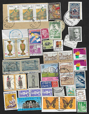 (111cents) World Wide Collection of used stamps on Piece x 300+