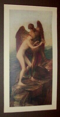 Antique Early 1900'S Pre-Raphaelite Print By George Frederic Watts Love And Life