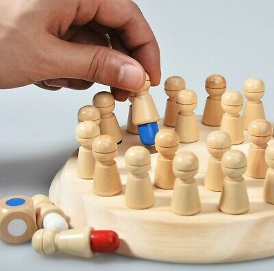 Wooden Memory Match Stick Chess Game Early Educational Learning Toy Fun