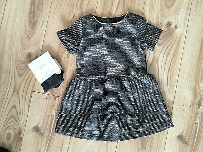 Girls NEXT Party occasion Dress - with brand new NEXT sparkly tights - age 3 2-3