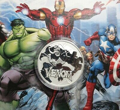 TUVALU Venom marvel Comics 1 oz 999 Silver Coin $1 2020 PERTH MINT