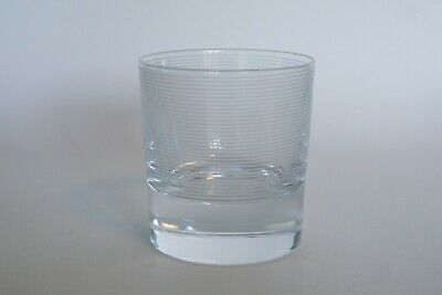 Heavy Cut Crystal Whisky Tumbler with FIne Concentric Etched Bands