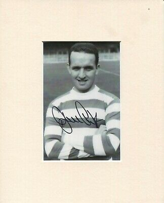 10 x 8 inch mount personally signed by John Clark, Celtic, Lisbon Lions 1967.