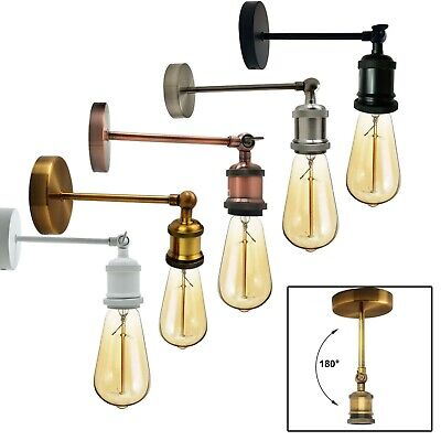Industrial Retro Adjustable Wall Lights Vintage Style Sconce Lamp Fitting Kit UK