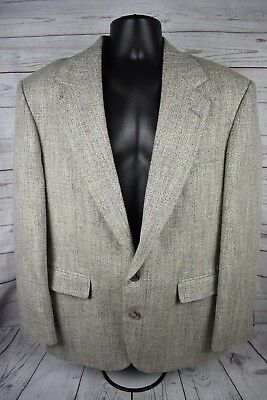 HAGGAR Imperial Gentleman's Fit Gray Blazer Sport Coat Two Button Mens Size 42 R