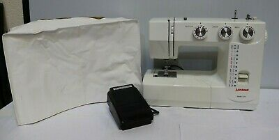 JANOME 1571 Electric Sewing Machine + Cover + Foot Pedal - 250