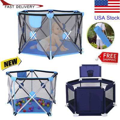 Baby Playpen Play yard Kids Infant Safety Play Center Fence Home Indoor Game Pen