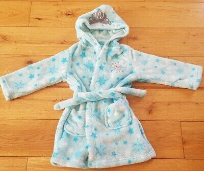 Frozen Girls Soft Marks & Spencers Dressing Gown. Aged 2-3yrs, Mint Condition