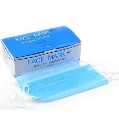 3 Ply Masks  Disposable Surgical Face Anti-Dust Clean Hygienic Medical Mouth-50