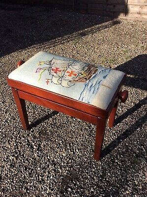 Rise And Fall Piano Stool Dressing Table Stool Sewing Stool Ships Tapestry