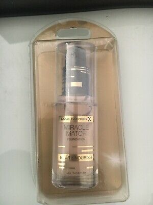 Max Factor Miracle Match Foundation Blur & Nourish 30ml. Light Ivory 40/ Sealed