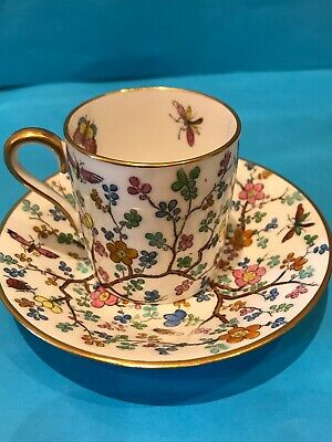 Copeland Spode Shanghai R4405 Pattern, 1935 Coffee Cup And Saucer Mini Size. AF