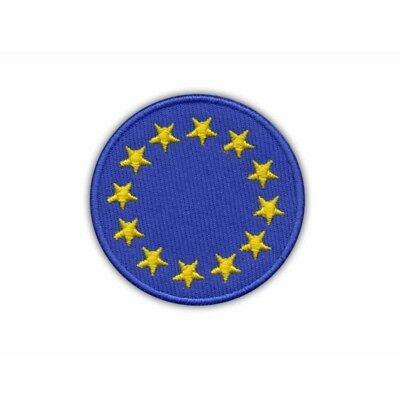 Rotondo Unione Europea Bandiera Patch Ricamato/Distintivo