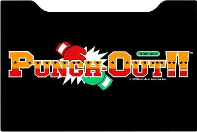 Punch Out Arcade 1up Cabinet Riser Graphic Decal Sticker