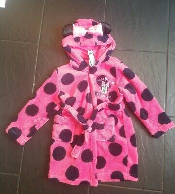 Mini Mouse Girls dressing gown 3-4 years. Brand New. Matalan.