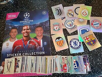 200 x TOPPS CHAMPIONS LEAGUE 2019/20 STICKERS - ALL DIFFERENT ,WITH ALBUM .