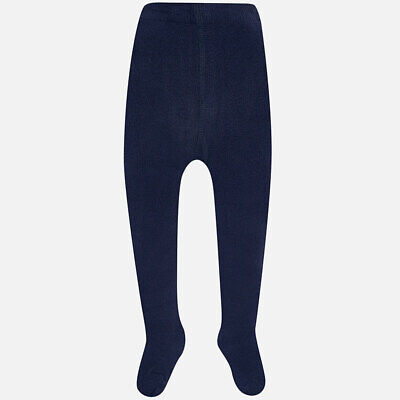 Toddler Kids Tights 2 Packs Girls Boys Navy  Plain Cotton Rich Winter  2-8 Years