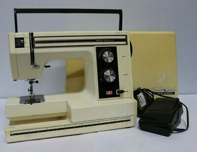 Vtg NEW HOME Semi-Industrial sewing Machine Model SD-2014 + Pedal + Cover - 250