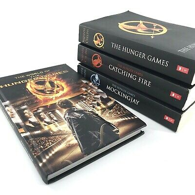 The Hunger Games Trilogy Complete Set Books 1 2 & 3 + The World Of Hunger Gam OB