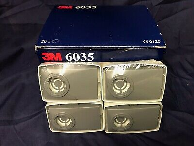 3M Face Mask Particulate Filters 6035 1 pack of x4 Filters  *Date expired*