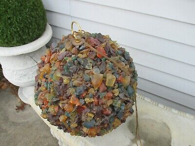 Mid Century Chunky Lucite Multi Color Swag Lamp