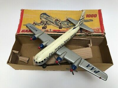 GAMA 1000 Flugzeug Plane Battery Operated 1960 complete working BOX tested OVP