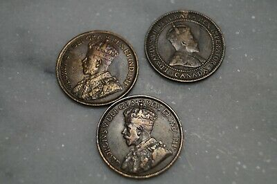 Canadian Penny lot - 1910, 1915 & 1919