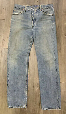 VTG Levis 501 Button Fly Jeans Size 31 X 32 Made USA