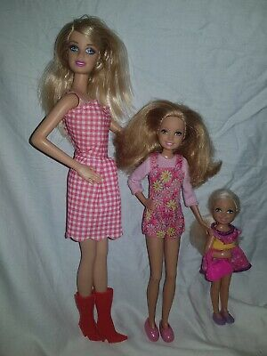 Barbie and her  Sisters Chelsea and Stacie camping fun set 2015