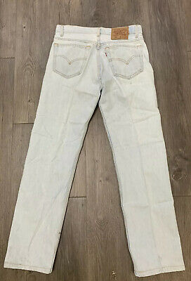 VTG Levis 501 Button Fly Jeans Size 29 X 30 Made USA