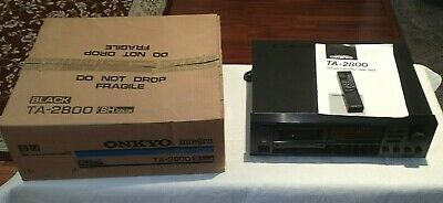 Onkyo Integra TA-2800 Cassette Deck with Original Box, Manual & Remote