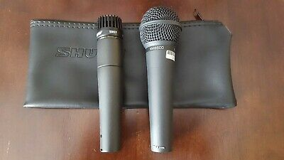 Lot of 2 Microphones Shure SM57 and Behringer XM8500
