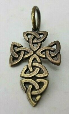 CROSS Medieval Vicing   Bronze Pendant  Ancient Rare