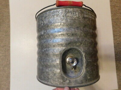 Vintage 2-Gallon Igloo Heavy Duty Galvanized Metal Water Cooler & Spout & Box