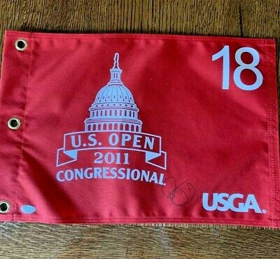 RORY MCILROY Signed 2011 US Open  AUTO  CANVAS FLAG COMES WITH JSA  LETTER